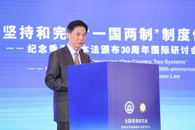 邓中华在研讨会上发言,来源:新华网