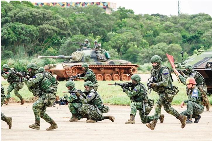 台军演习资料图(图片来源:台湾《联合报》)