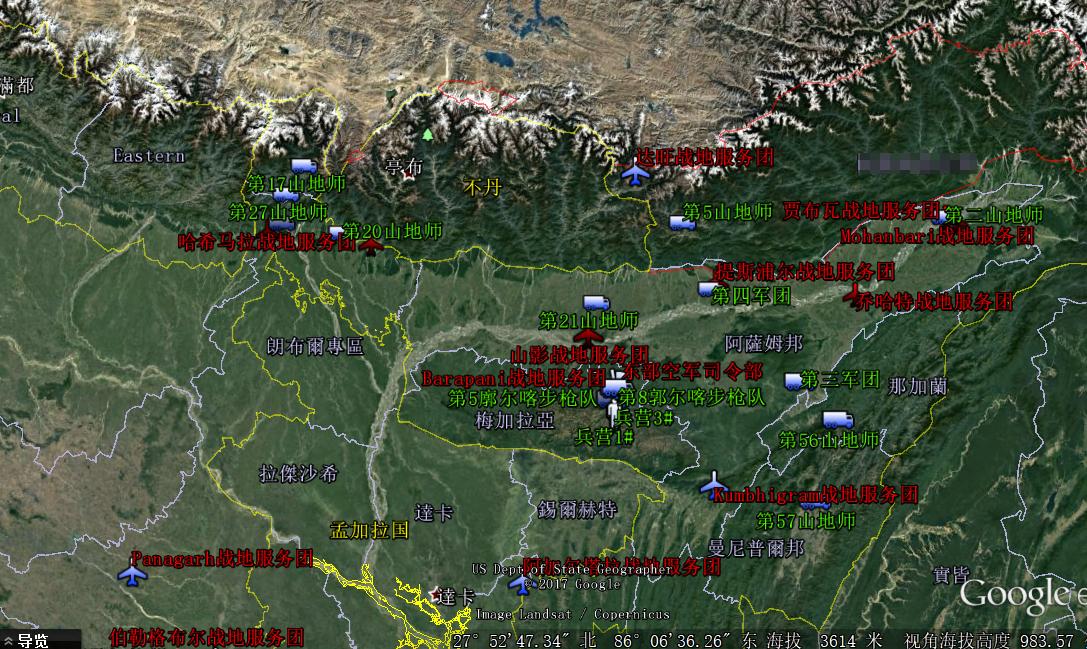 印度东线部署情形 图源:视察者网