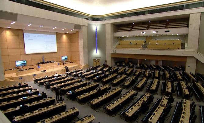 人权理事会第43次会议:多国代表支持中国涉港国安法图片