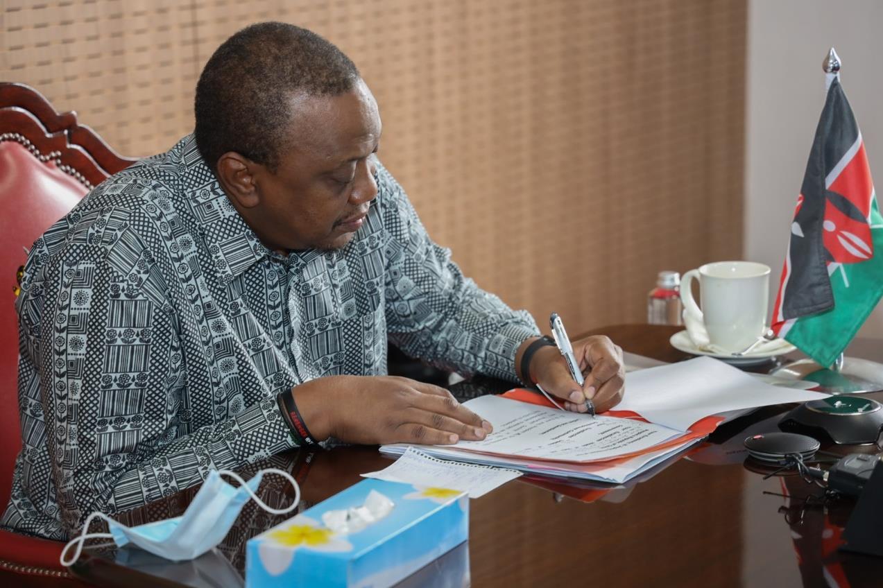 肯尼亚总统:感谢中国对非洲国家的抗疫援助图片