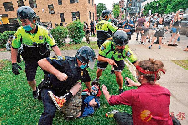 因黑人之死陷暴乱蓝冠官网香港反,蓝冠官网图片