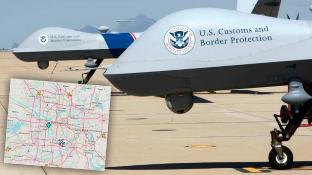 美国海关的捕食者B型无人机