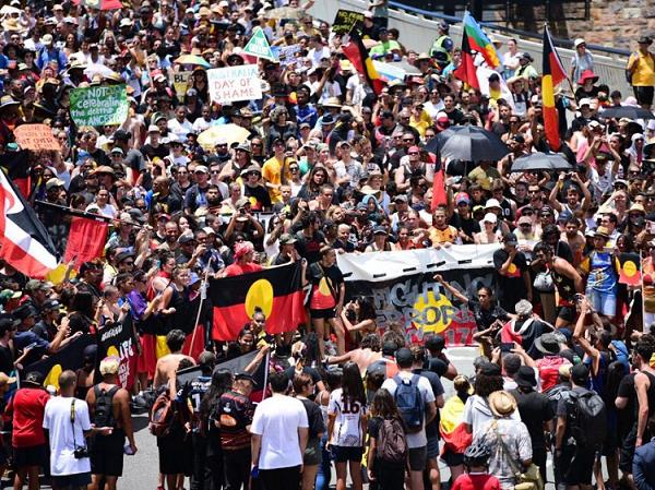 △澳大利亚原住民抗议不公正待遇(资料图)