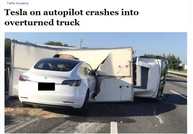 特斯拉辅助驾驶再肇祸?Model 3不减速撞上倾倒大货车
