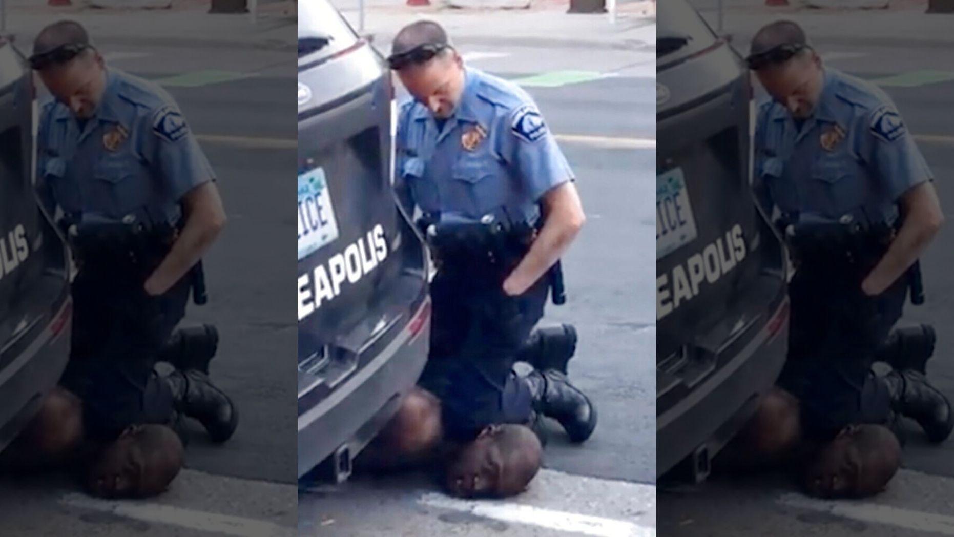 弗洛伊德遭警察跪压(视频截图)