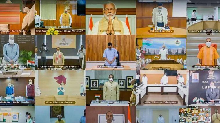 全党派视频会议 图源:《近日印度》