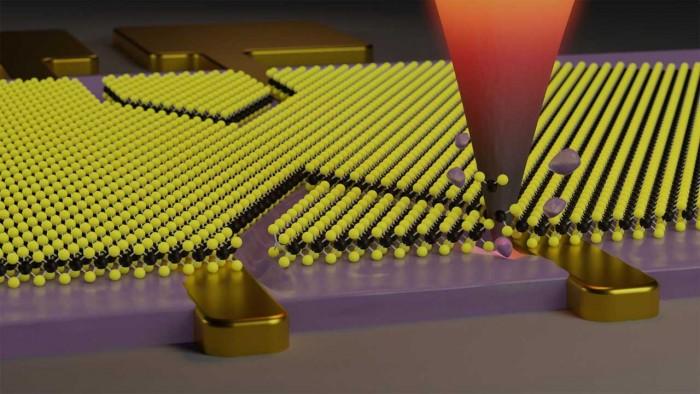 研究人员创造了一种方法 在二维材料上雕刻纳米图案