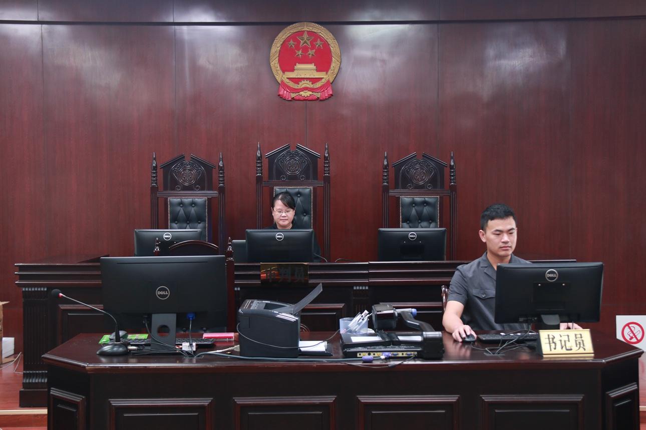 """钟山法院:院长""""云上""""调解 带头""""提速增效""""图片"""