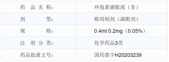 重磅!兴齐眼药0.05%环孢素滴眼液(Ⅱ)(兹润)眼用制剂获批上市!