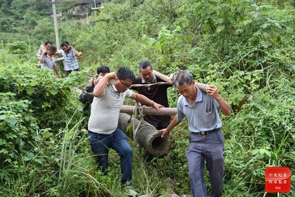 天富:镜头|走在田埂上天富的驻村干部图片