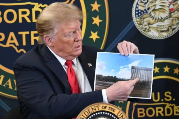 """特朗普大赞美墨边境墙""""阻挡了一切"""",包括新冠病毒"""