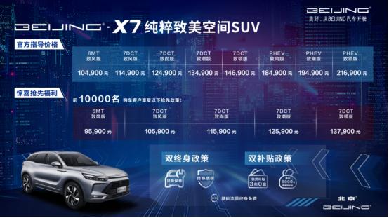 四大纯粹开启美好生活——BEIJING-X7正式上市 指导价10.49万元起