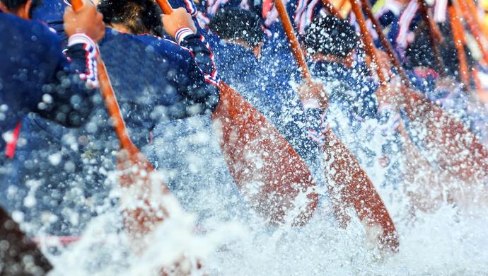 端午节赛龙舟的标签正在淡化,北京这支龙舟队队长说:健身新风尚图片