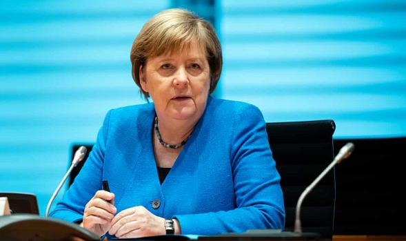 △德国总理 默克尔(图片来源:《卫报》)
