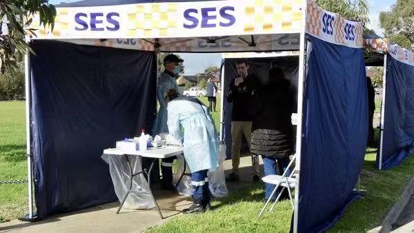 △墨尔本某病毒检测点(图片来源:澳大利亚当地媒体)