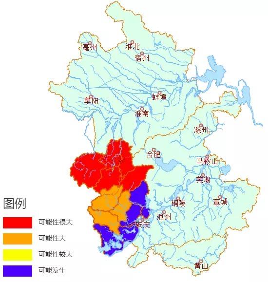 安徽发布山洪灾害气象预警 六安多地为红色预警图片