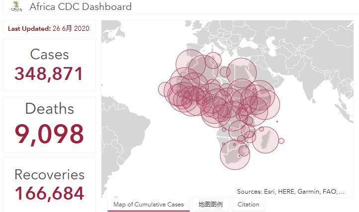 非洲地区新冠肺炎确诊病例快速增长至34.8万
