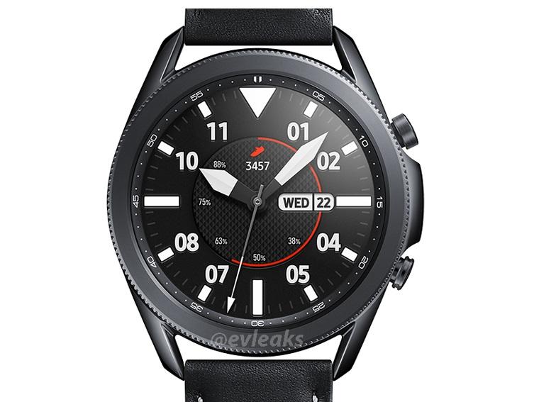 三星Watch3高清渲染图再曝光:这次加了长表带