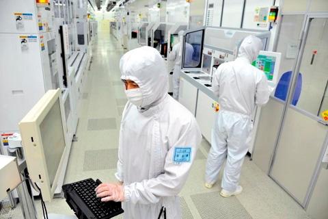 三星电子工厂的生产车间(《朝鲜日报》)