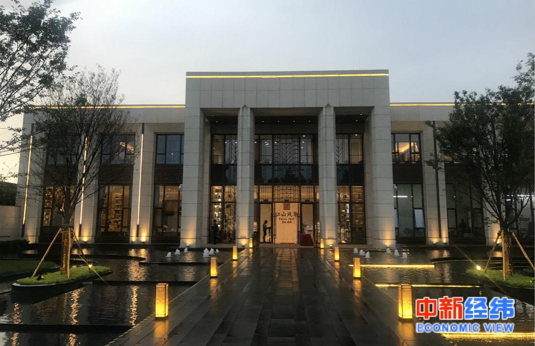 北京市大兴区江山风华项目售楼处。中新经纬 薛宇飞 摄
