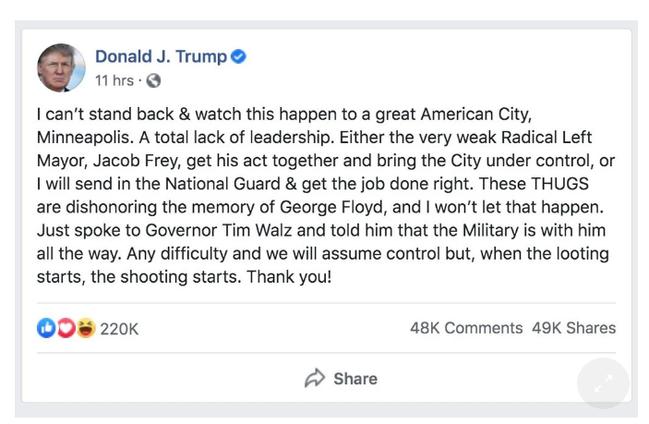 没给特朗普推文贴标签 Facebook员工不干了:罢工