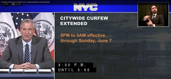市长发表声明 图自视频截图