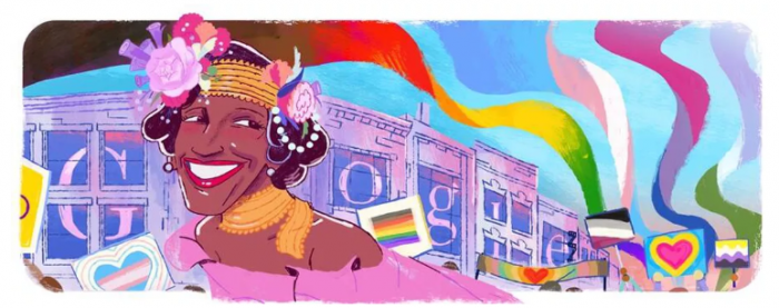 Google Doodle向LGBTQ先驱Marsha P. Johnson致敬