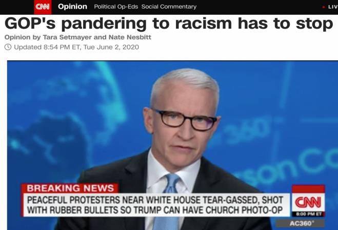 △CNN报道,不能纵容种族歧视