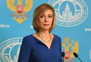 △俄罗斯外交部谈话人扎哈罗娃