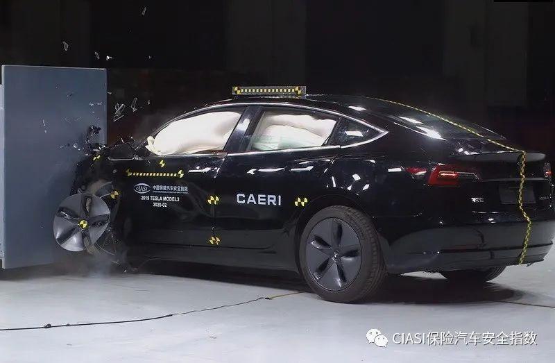 国产特斯拉 Model 3 中保研碰撞测试完成:视频公布
