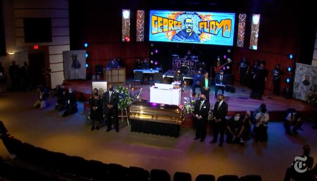 △6月4日,乔治·弗洛伊德的悼念会在明尼阿波利斯举行