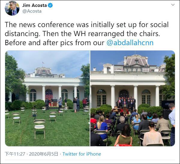 """白宫发布会让记者挨着坐 因为""""显得好看""""(图)"""