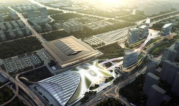 中国铁建承建京沈高铁最大站房封顶 未来沈阳进京2.5小时图片