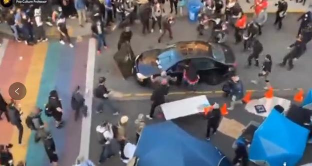 美国西雅图一名男子向抗议人群开枪造成一人受伤
