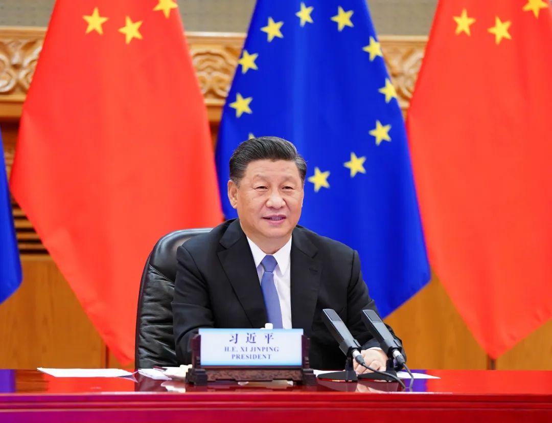 ▲6月22日晚,国度主席习近平在北京以视频方法访问欧洲理事会主席米歇尔和欧盟委员会主席冯德莱恩。新华社记者谢环驰摄