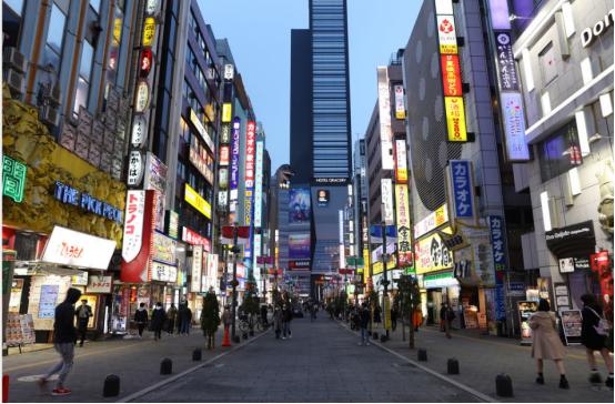 资料图:东京街头(东方IC)