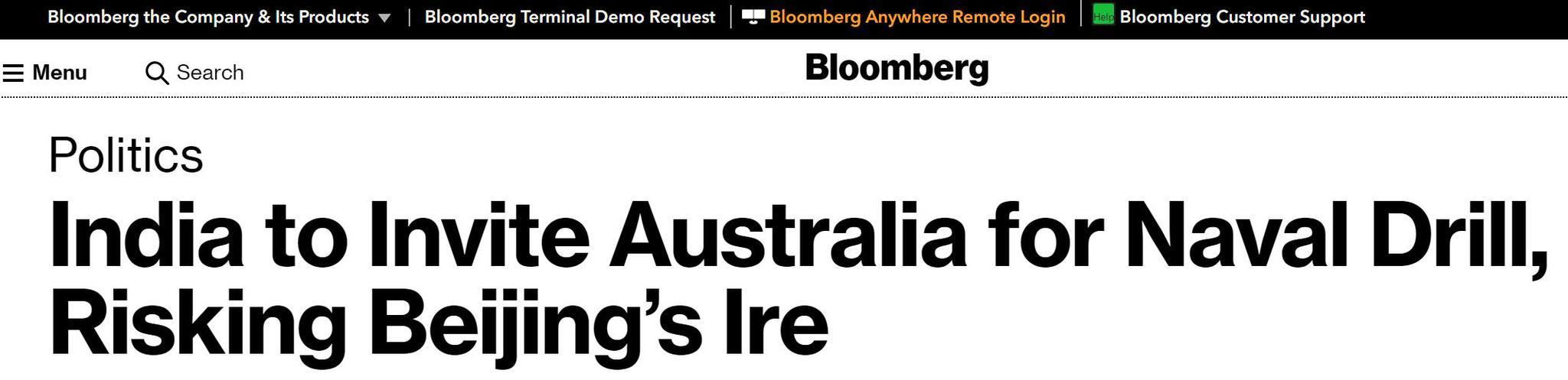 首次邀澳大利亚,印度这场军演把印美日澳四国凑齐了