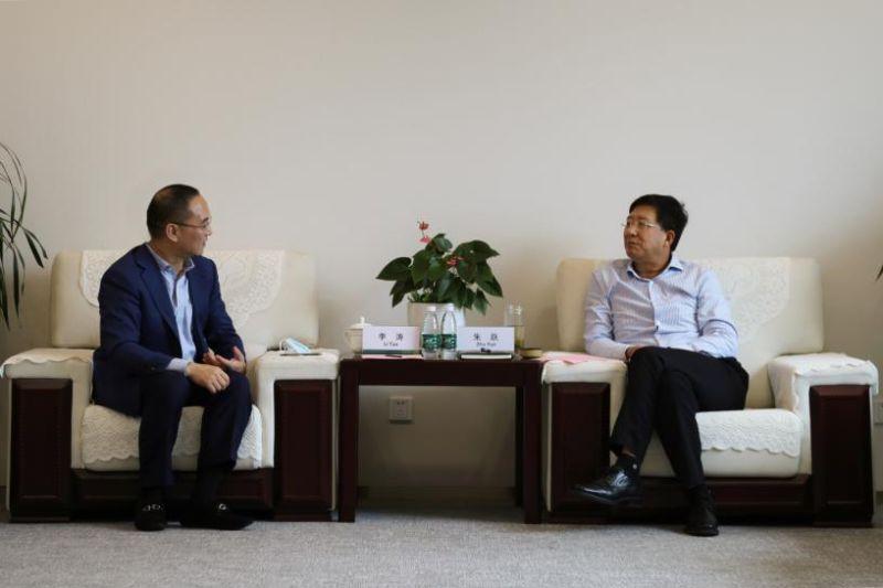 朱跃会见飞利浦大中华区副总裁李涛