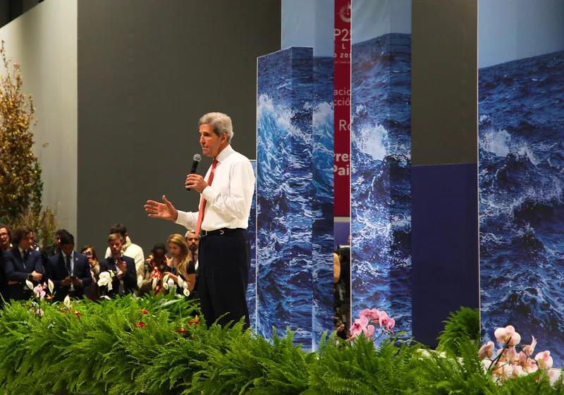 △2019年年底,克里在团结国天气转变大会上谈话(图片泉源:团结国天气转变大会)