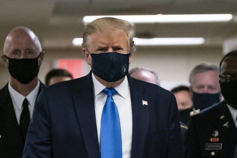 首次在镜头前戴口罩!特朗普:戴口罩是一件好事(图)