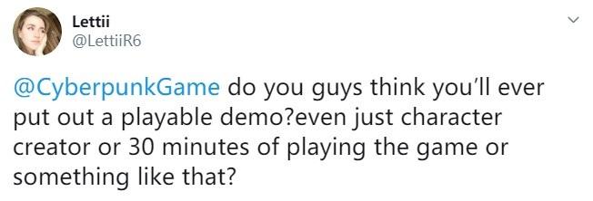 《赛博朋克 2077》没有试玩版,