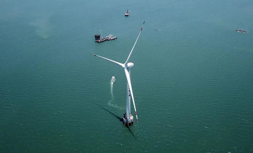 东方风电造!亚太单机容量最大海上风电机组并网发电