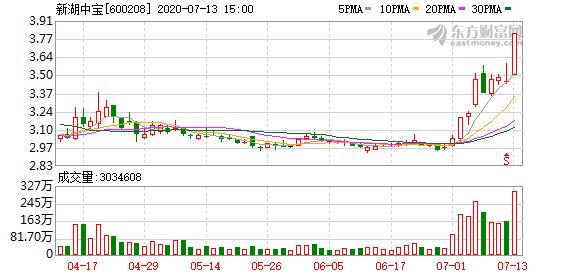 新湖中宝(600208)龙虎榜数据(07-13)