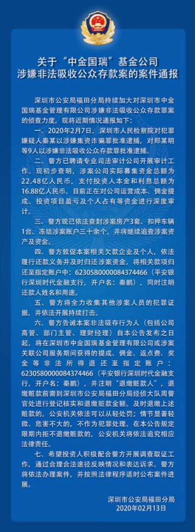 """中金国瑞的""""庞氏骗局"""":集资20亿,超18亿未兑付"""