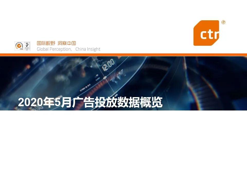 CTR:2020年5月广告市场刊例收入同比降幅收窄至17.1%