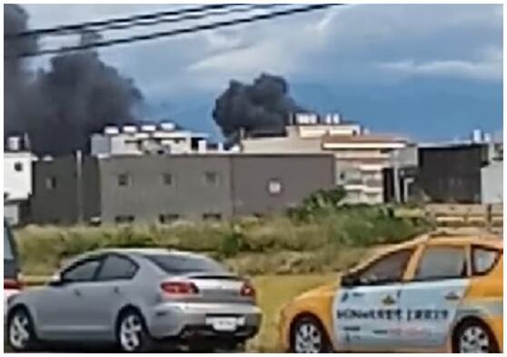 2020年7月16日,台湾新竹空军基地内有直升机坠落。