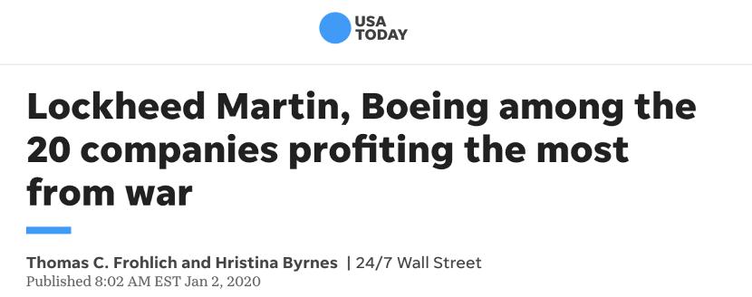 """被中国点名制裁的洛马公司什么来路?美媒:试图控制美国的""""影子政府""""图片"""