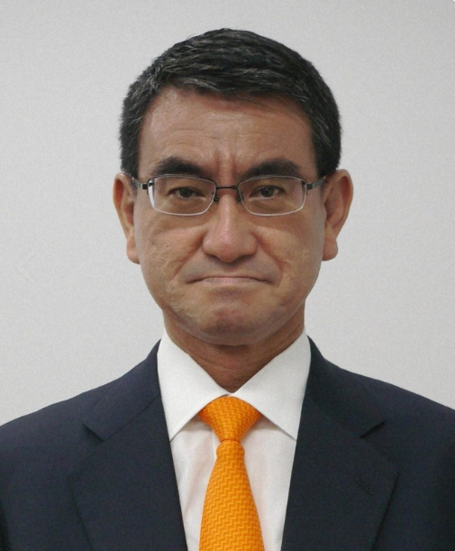 日本防卫相河野太郎(每日新闻)