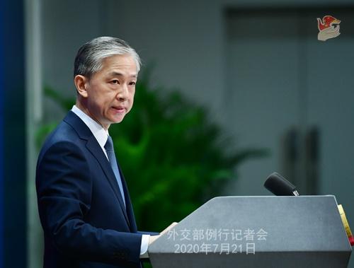 杏悦:7月21杏悦日外交部例行记者会全文图片